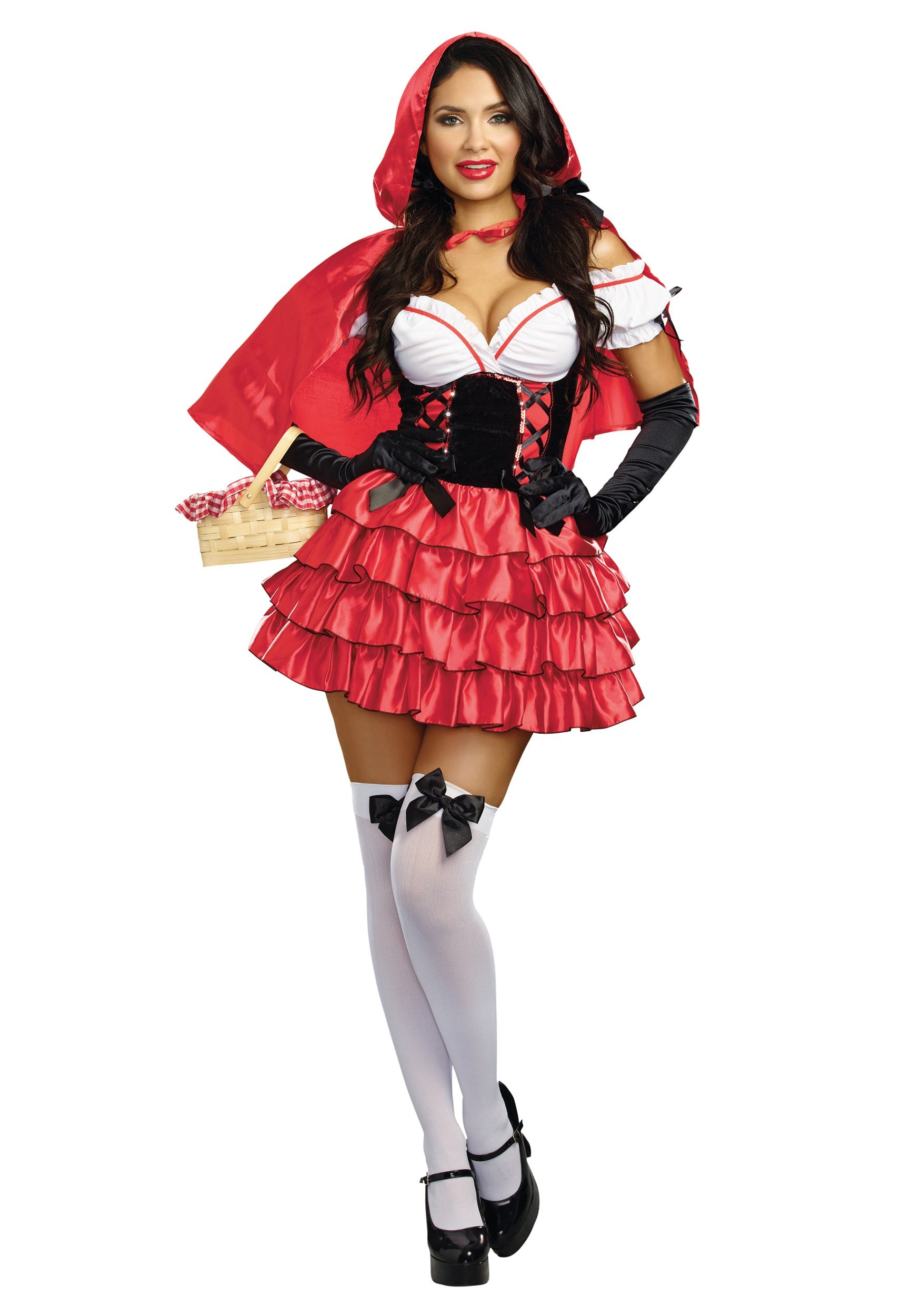 Women's Ruffled Red Riding Hood Costume