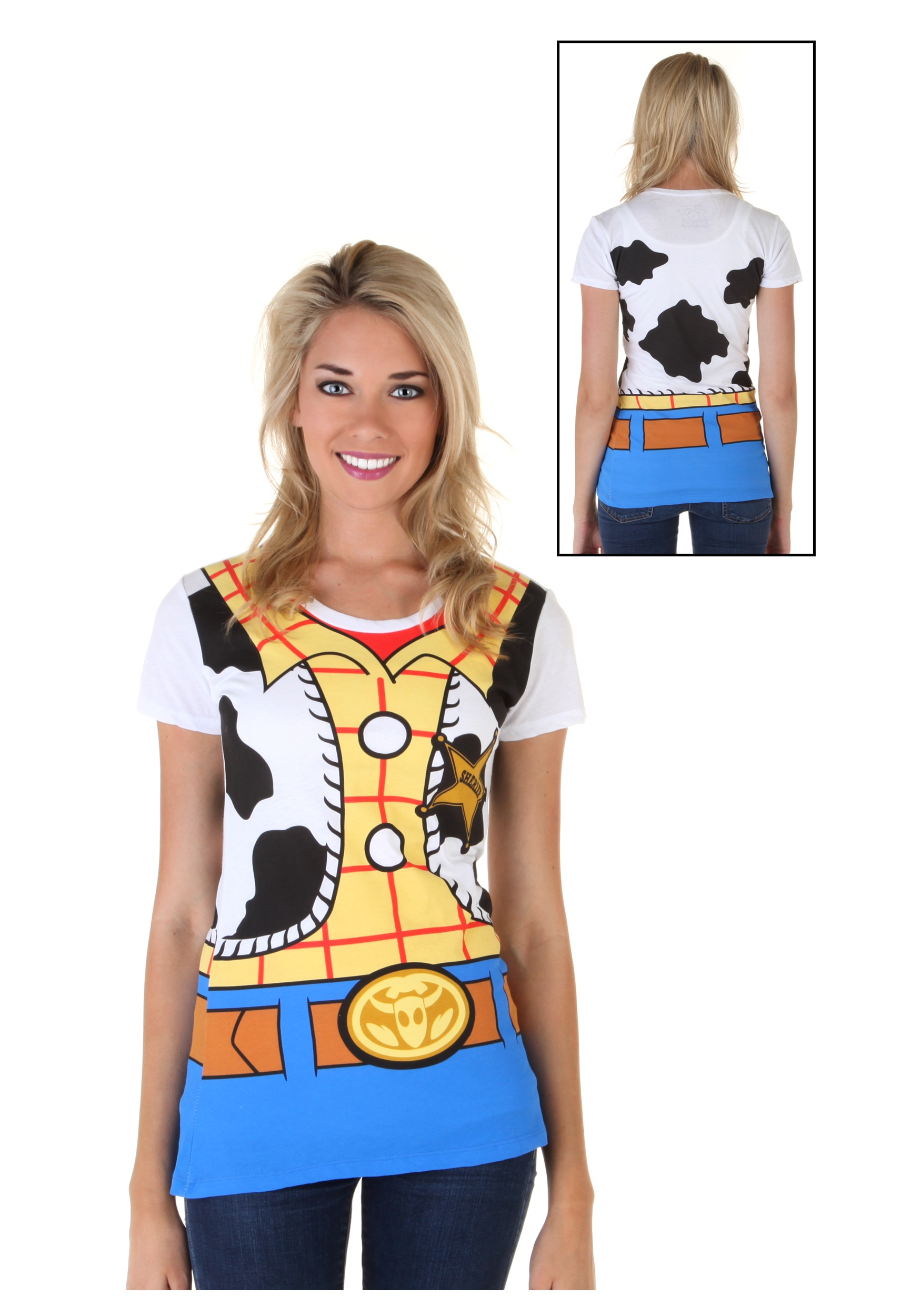 Womens Toy Story I Am Woody Costume T-Shirt