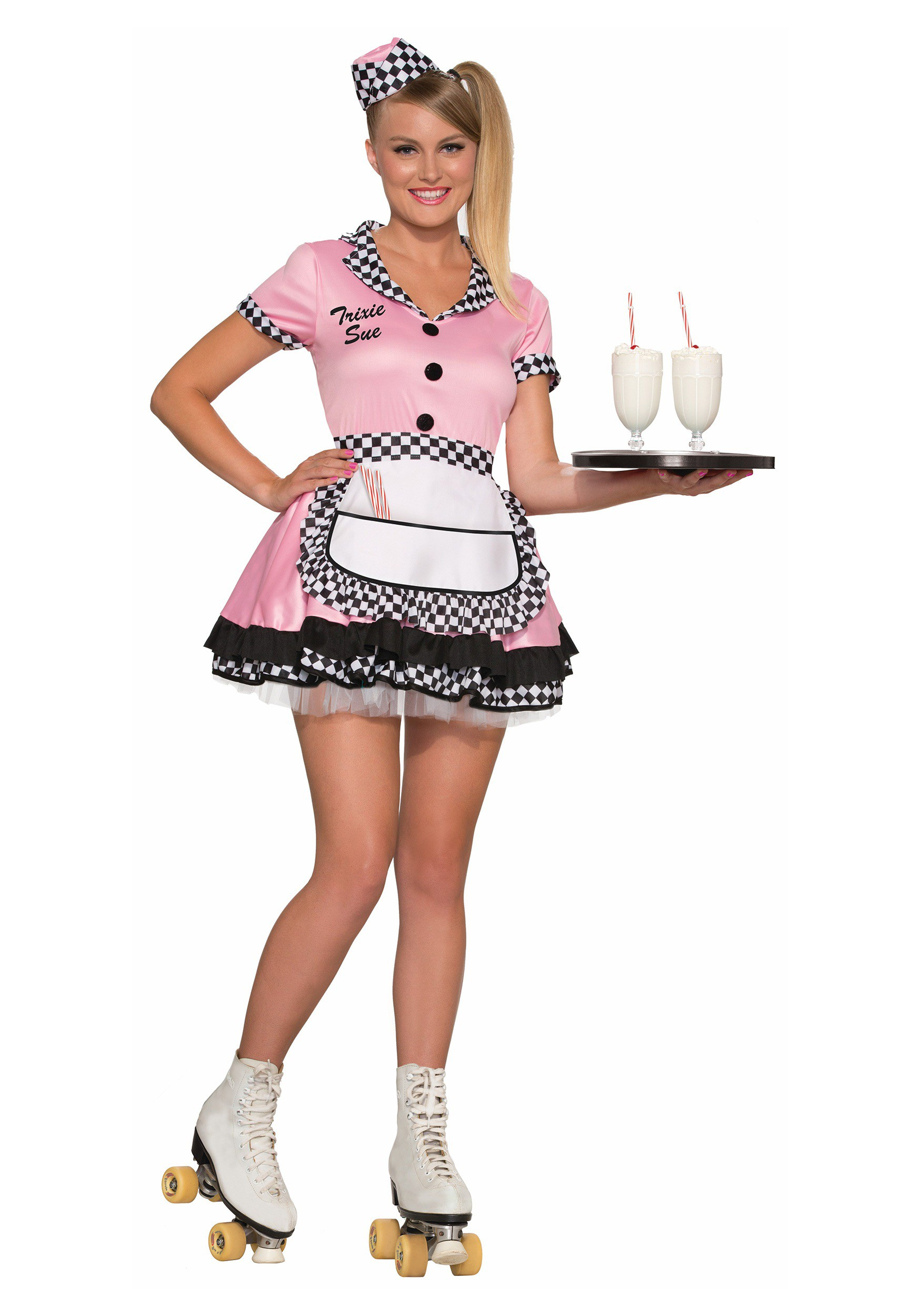 Womens Trixie Sue Carhop Costume