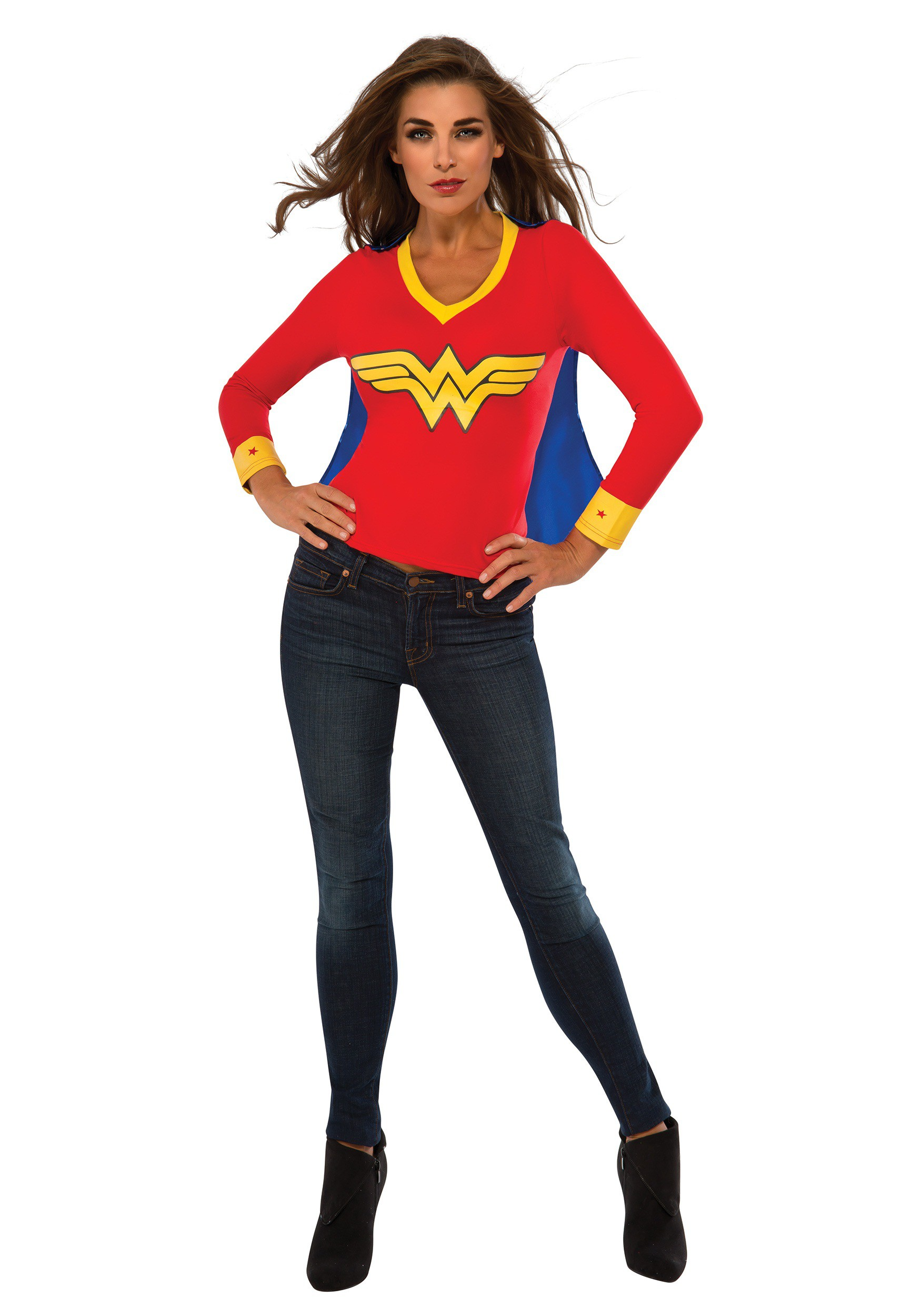 Women's Wonder Woman Sporty Tee w/ Cape