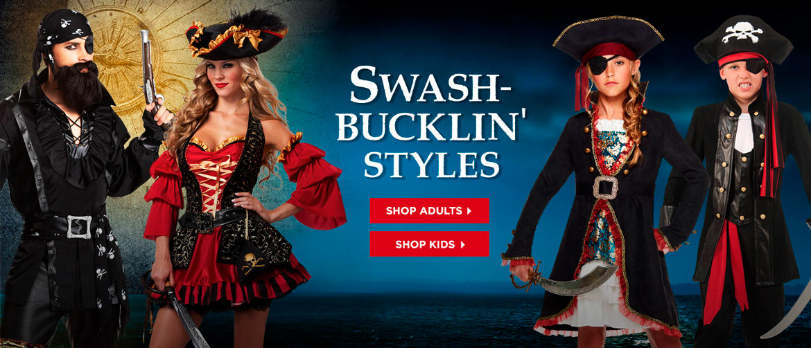 adult and kids pirate costumes